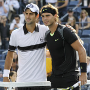 Rafa Nadal y Novak Djokovic en la final del Open USA
