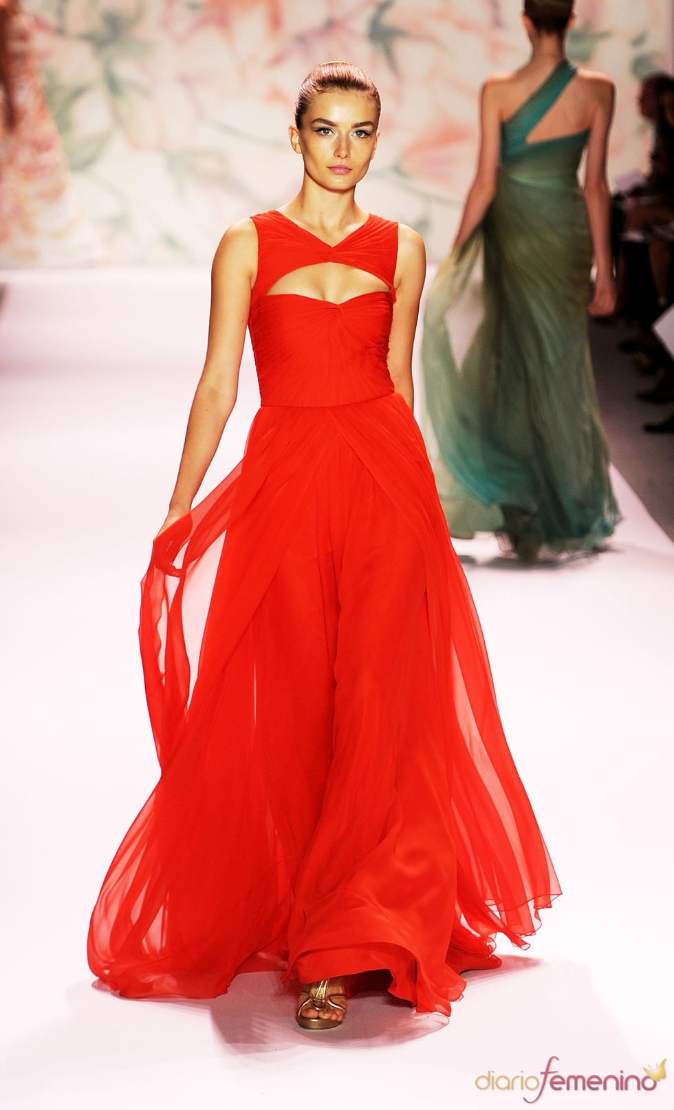 Vestido rojo de Monique Lhuillier