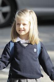 La pequeña infanta Leonor vuelve al colegio