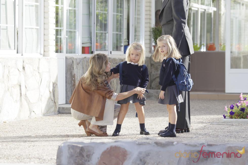 La infanta Sofía, desconcertada con los medios después de su caída