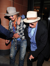Johnny Depp y Keith Richards, juntos de fiesta