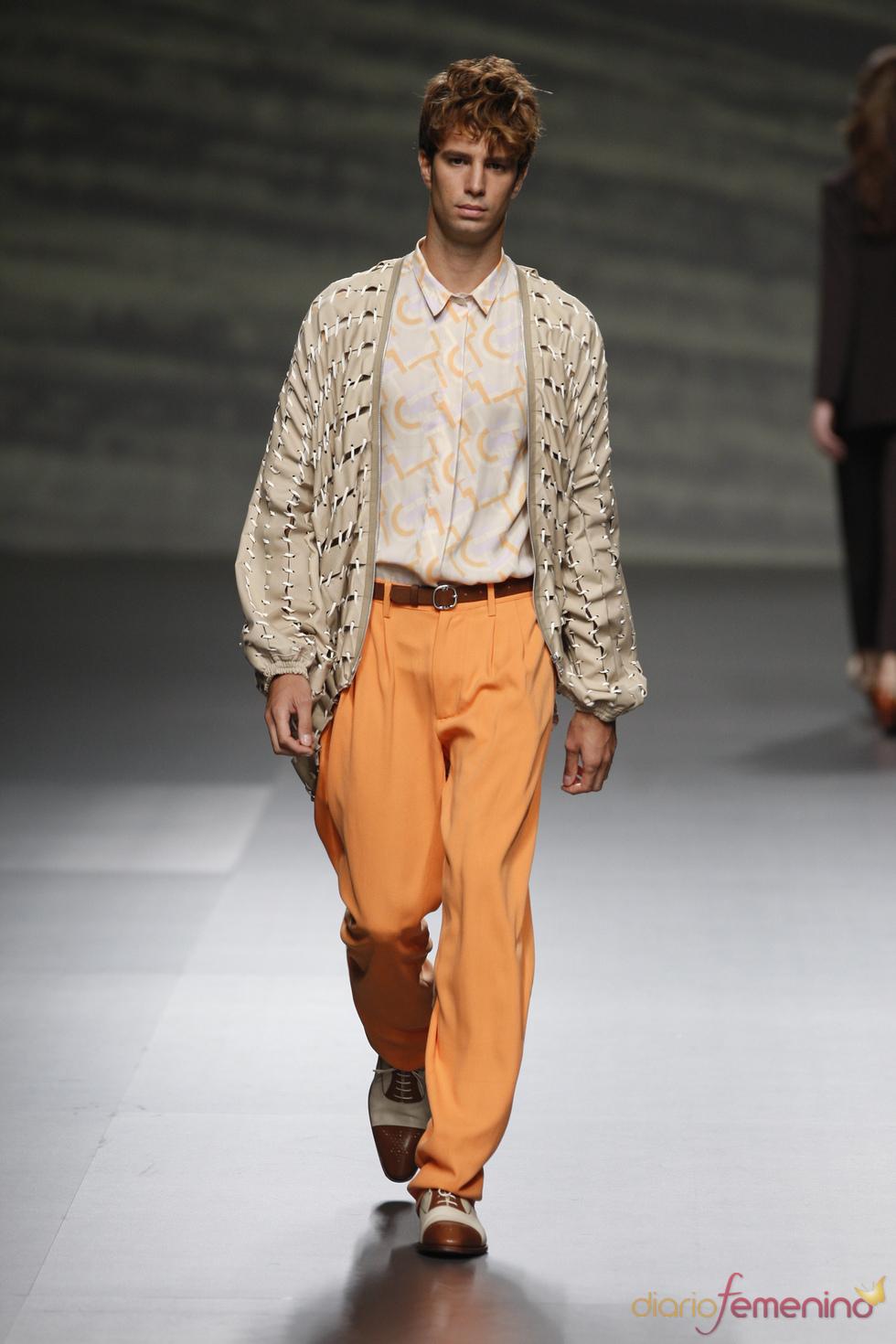 Los hombres de Martin Lamothe apuestan por el color en la Madrid fashion Week
