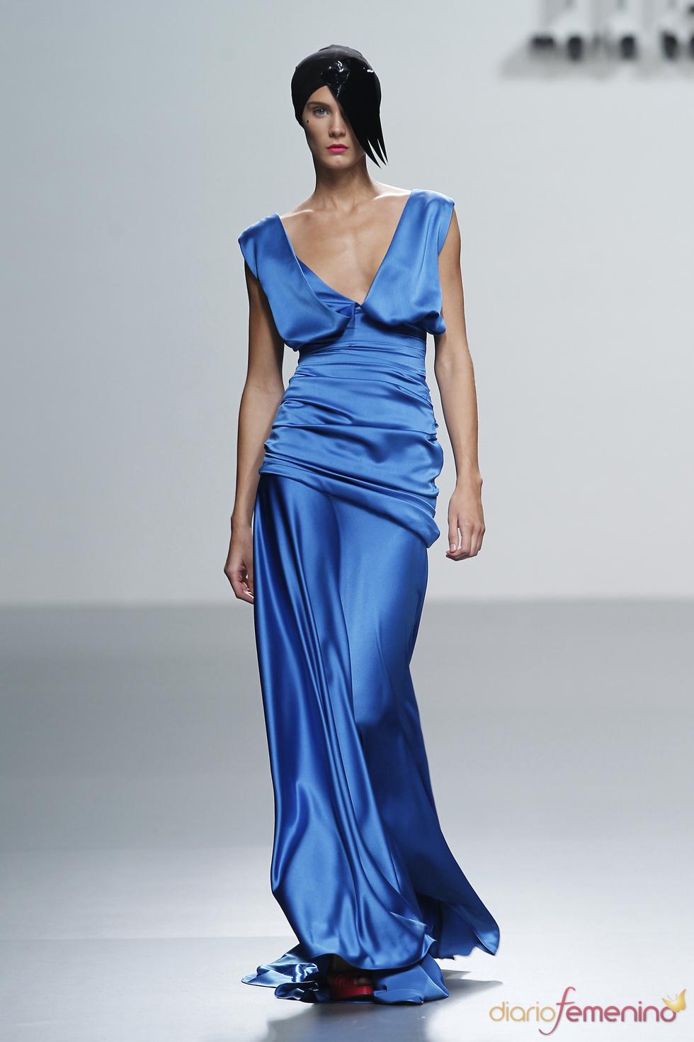 Sensual vestido de María Barros en la Madrid Fashion Week