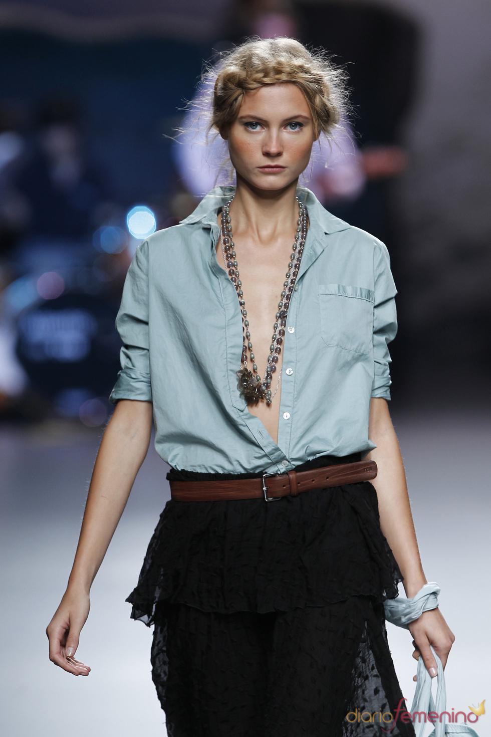 Sutiles transparencias de TCN en la Madrid Fashion Week