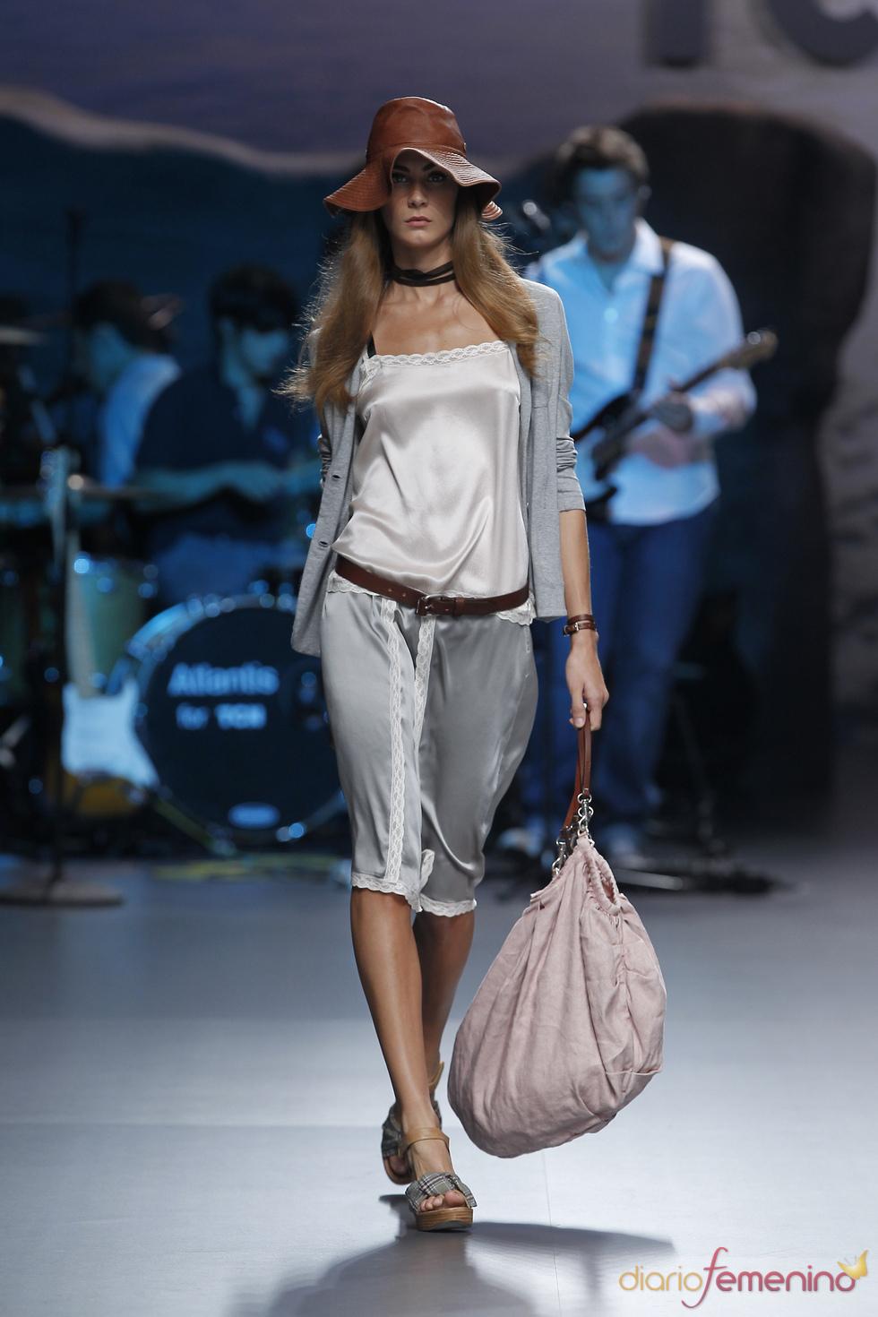Pantalón pirata lencero de TCN para la Madrid Fashion Week