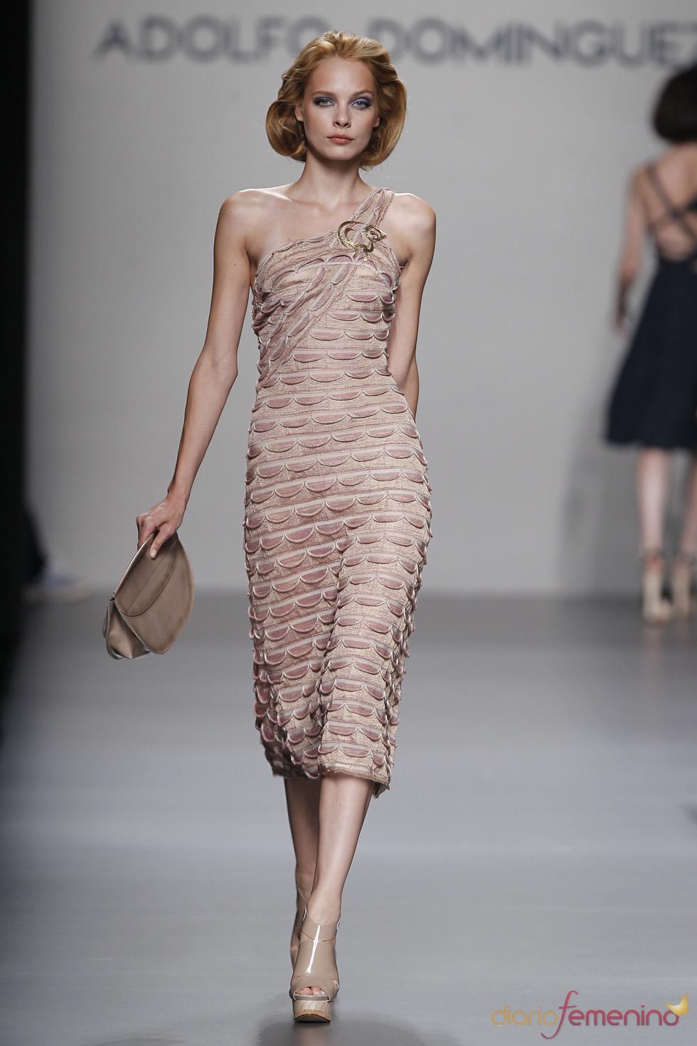 Maxivestido de Adolfo Domínguez para la Madrid Fashion Week