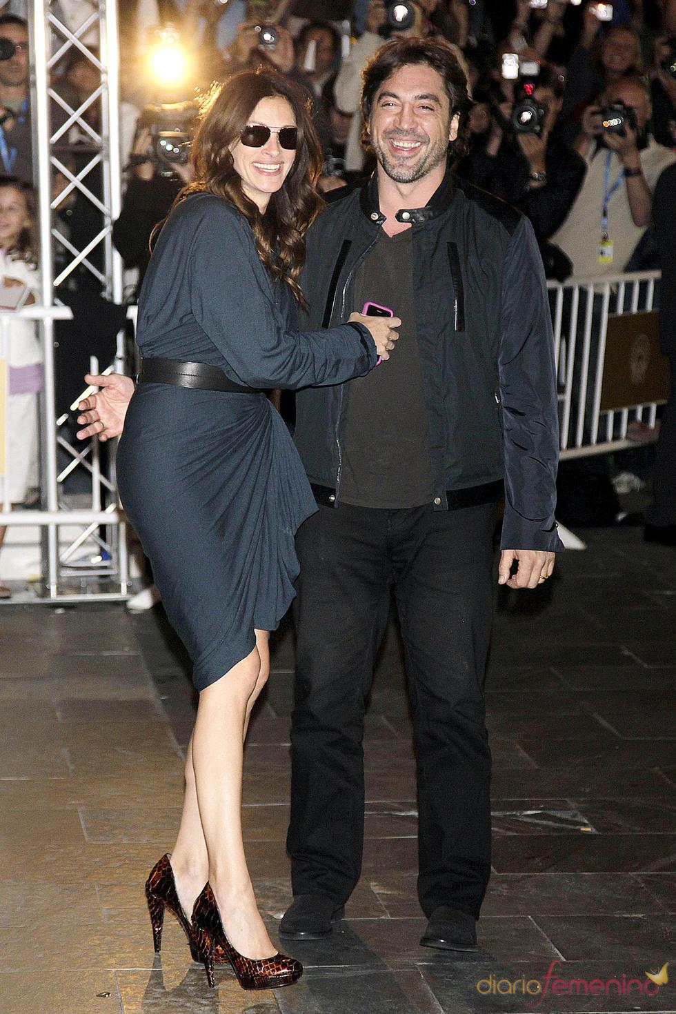 Javier Bardem y Julia Roberts en el Festival de Cine de San Sebastián