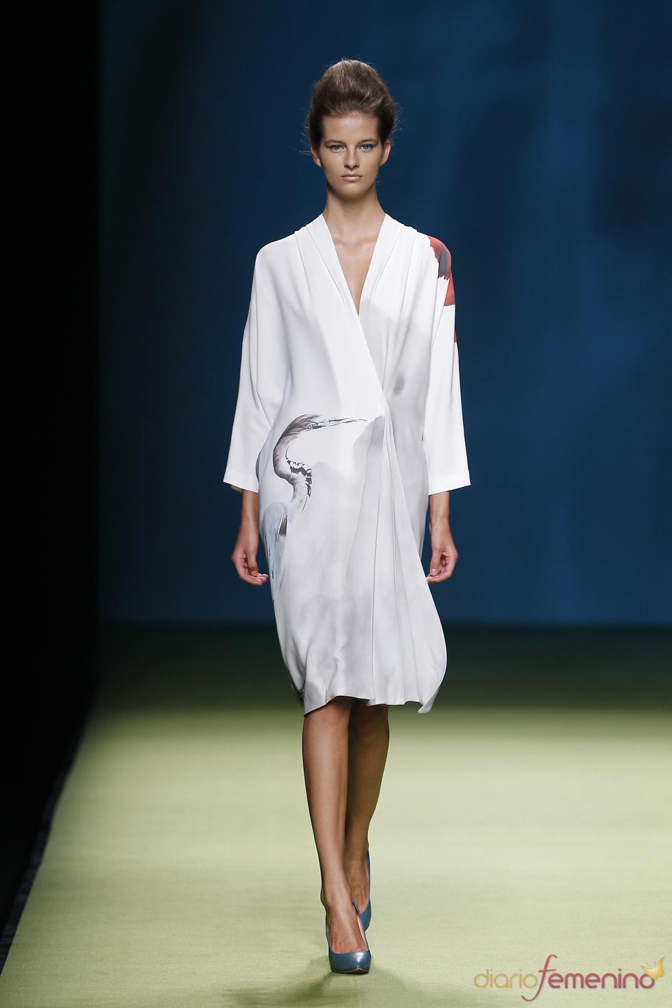 Garza de seda en la colección primavera-verano 2011 de Duyos