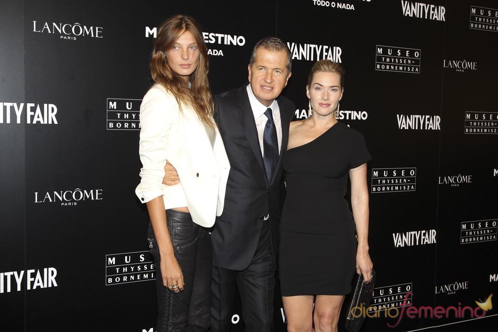Kate Winslet en la inauguración de la exposición de Mario Testino