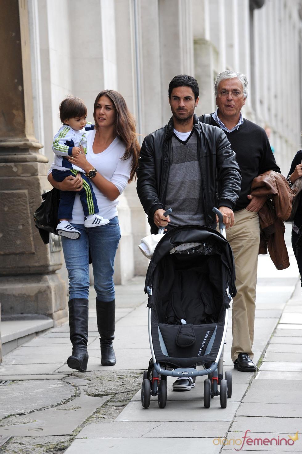 Photo of Mikel Arteta & his  Son  Gabriel Arteta
