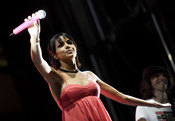 Raquel del Rosario en el concierto por el 60 aniversario de SEAT