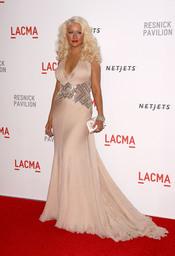 Christina Aguilera con larga melena rubia
