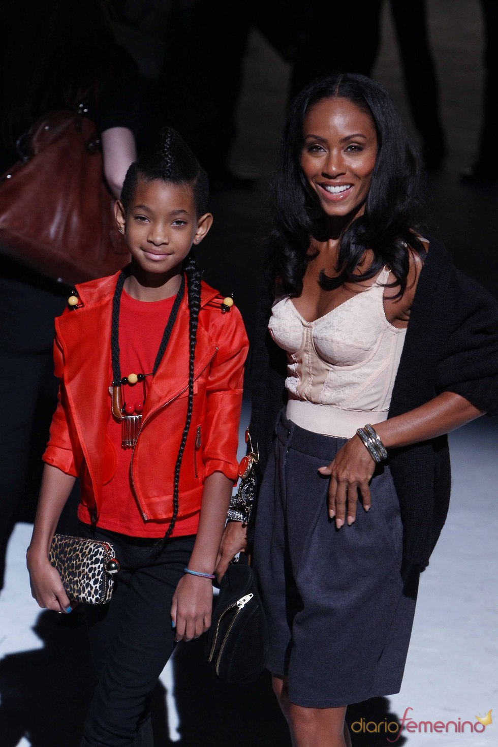 Jada y Willow Smith en la semana de la moda de Milán