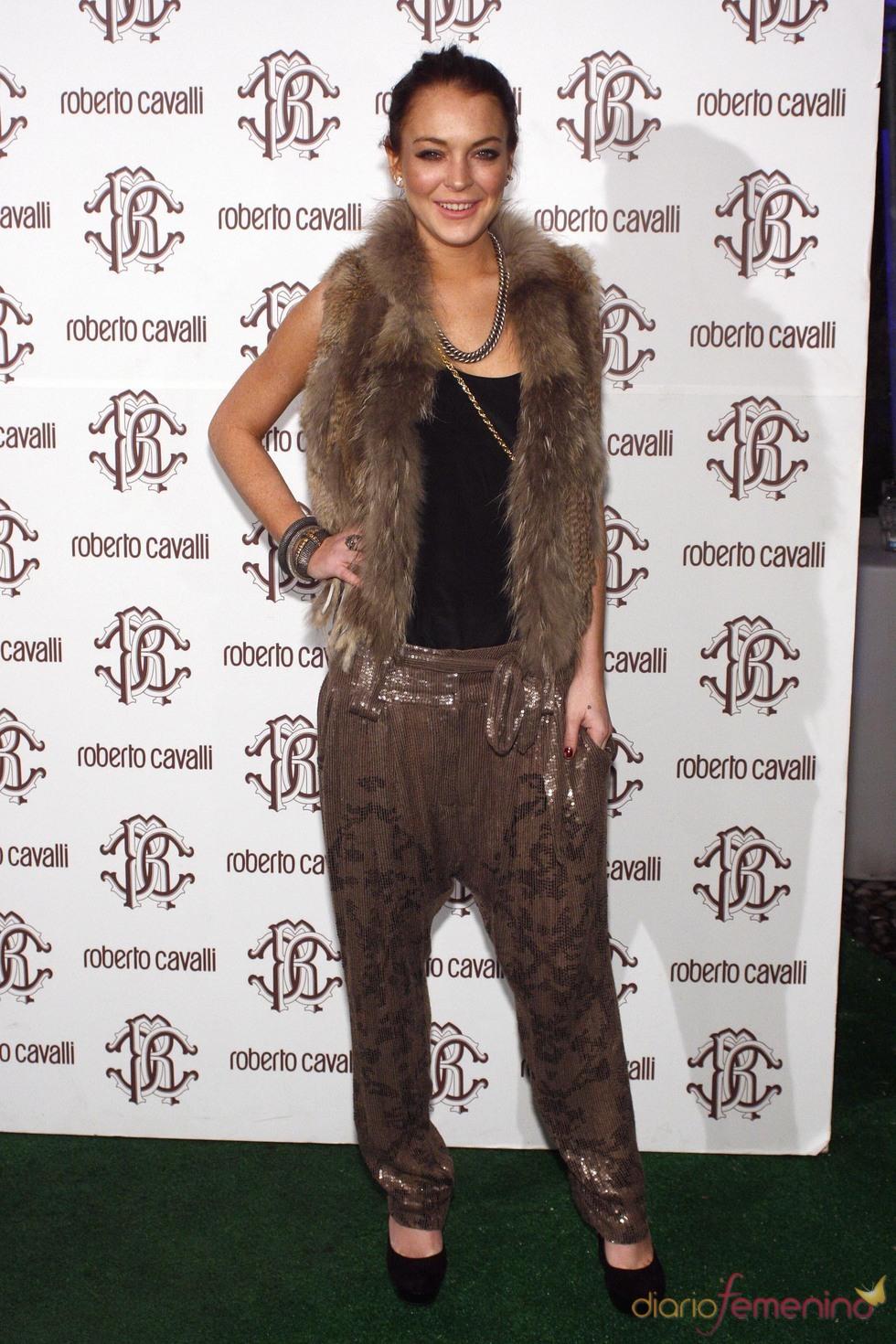 Lindsay Lohan acudió a la Milán Fashion Week