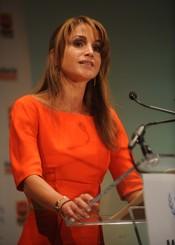 Rania de Jordania durante una cumbre en NY