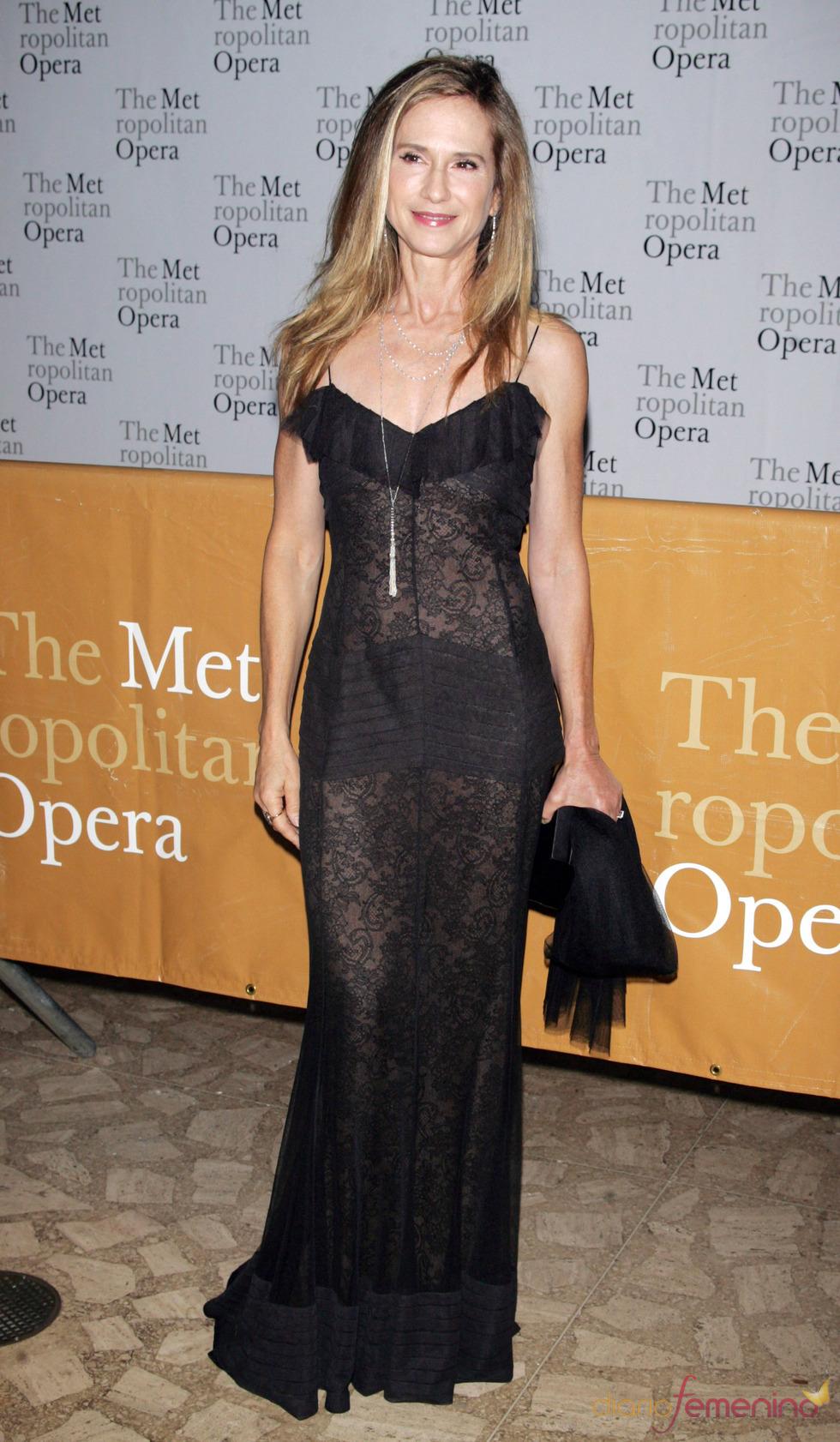 Holly Hunter en la ópera del Metropolitan de Nueva York