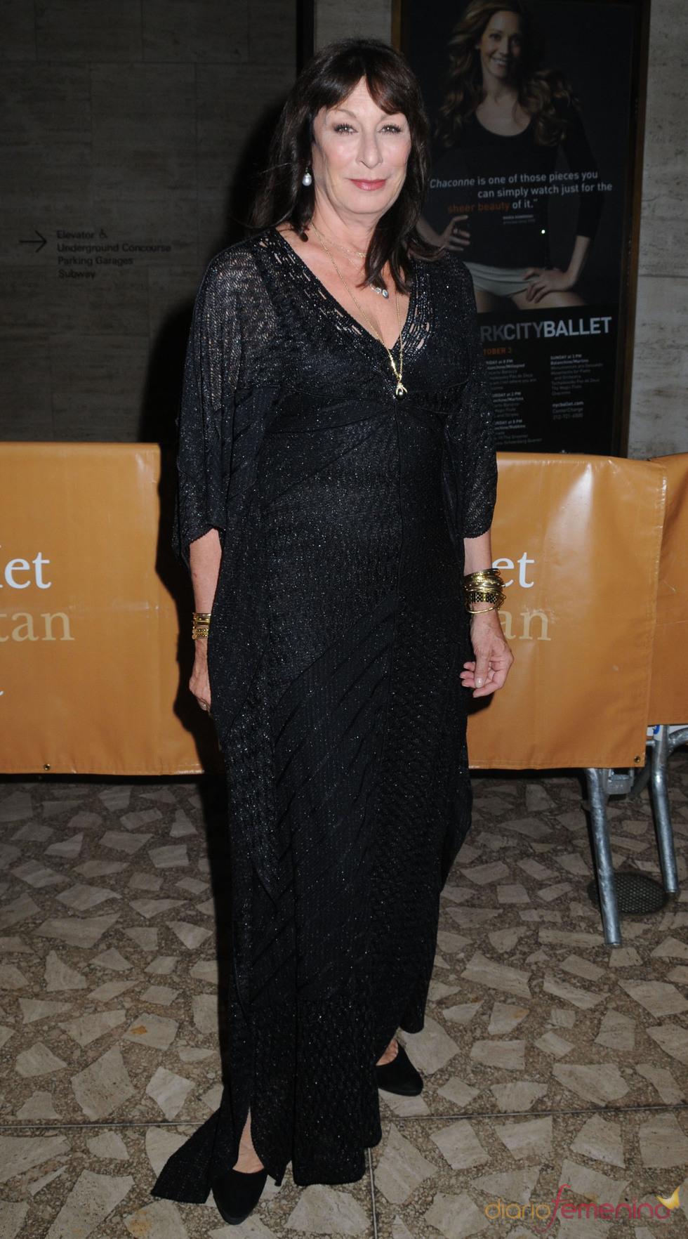 Anjelica Huston en la ópera del Metropolitan de Nueva York