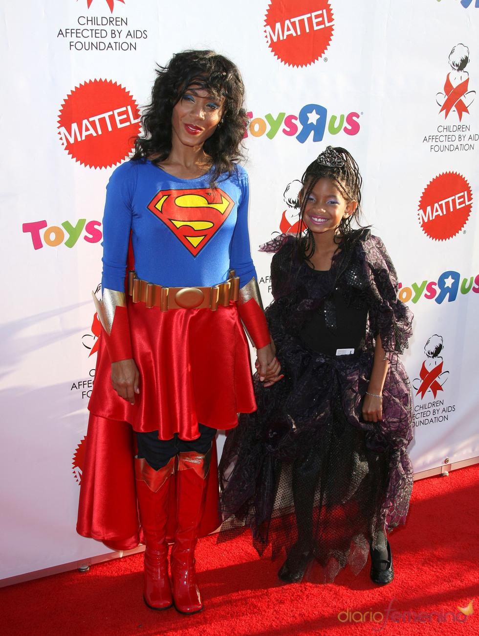 Jada y Willow Smith disfrazadas en Halloween
