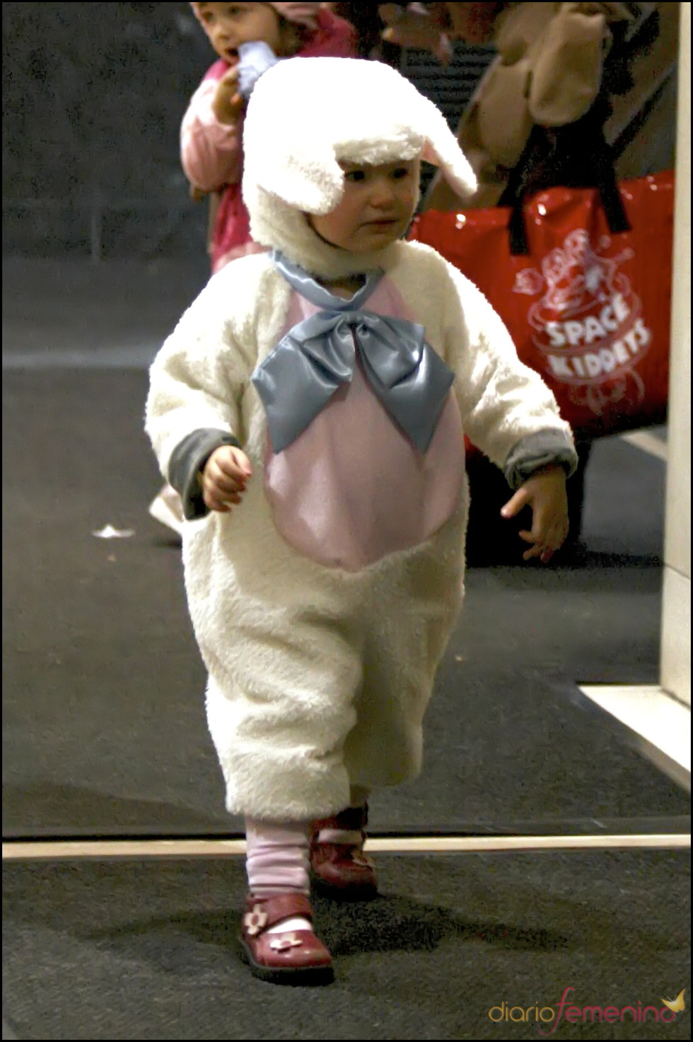 La pequeña Violet Affleck disfrazada en Halloween