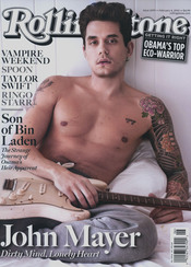 John Mayer, semidesnudo
