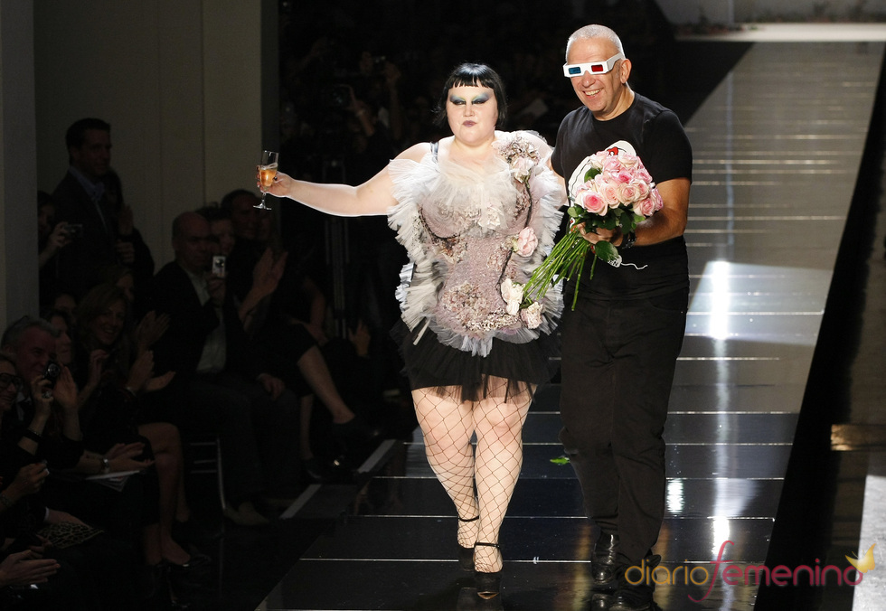 Beth Ditto con Jean-Paul Gaultier