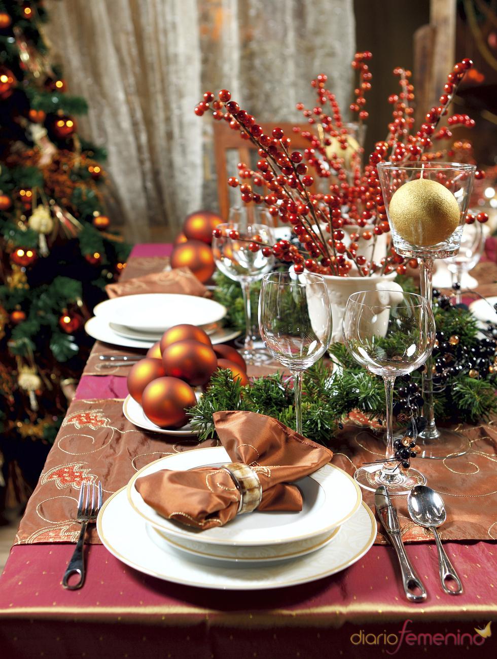 decoracion de mesas para navidad thinkstock