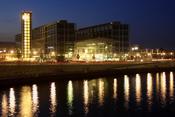 Vista nocturna de Berlín