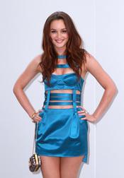 Leighton durante la Fashion Night Out de NY