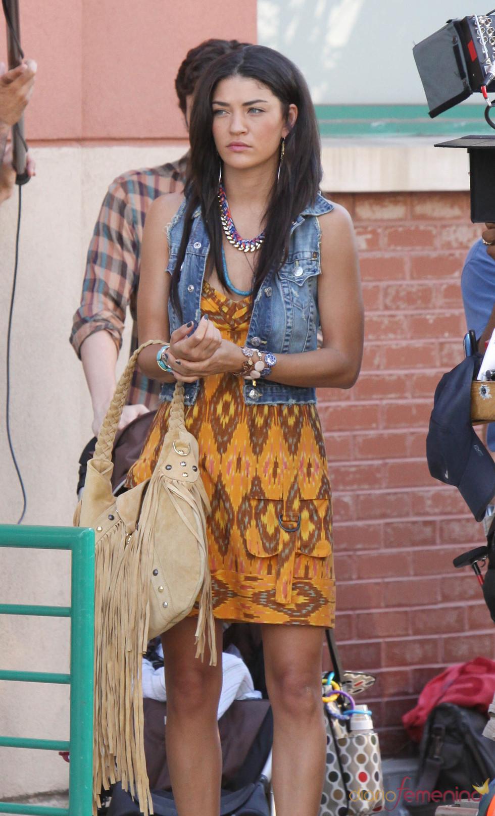 Jessica Szhor durante el rodaje de Gossip Girl