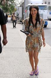 Vanessa en Gossip Girl con un look muy hippie