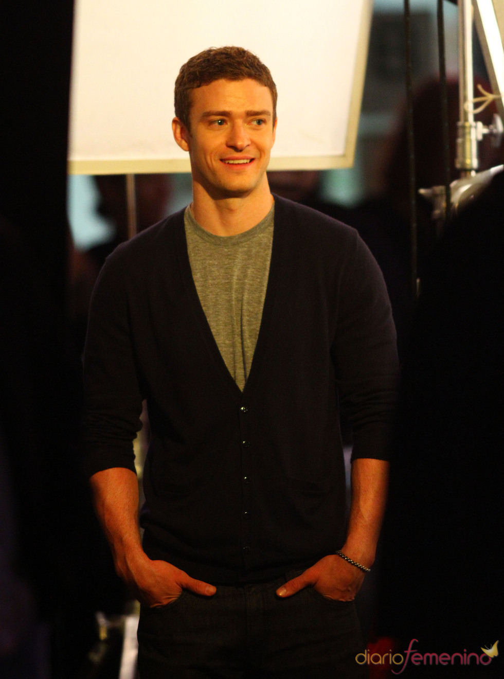 Justin Timberlake muy sonriente