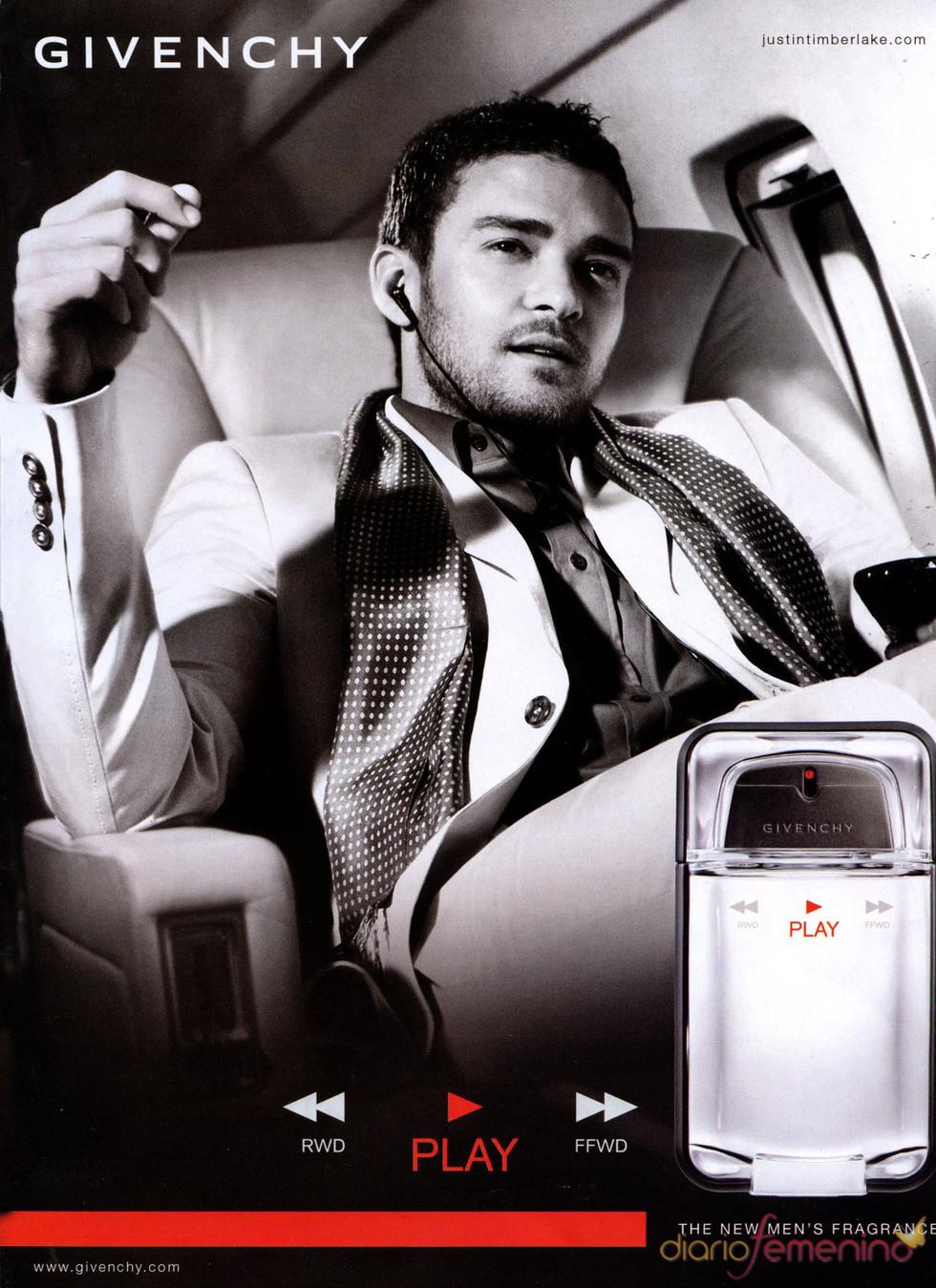 Justin Timberlake en la campaña de la colonia Play de Givenchy