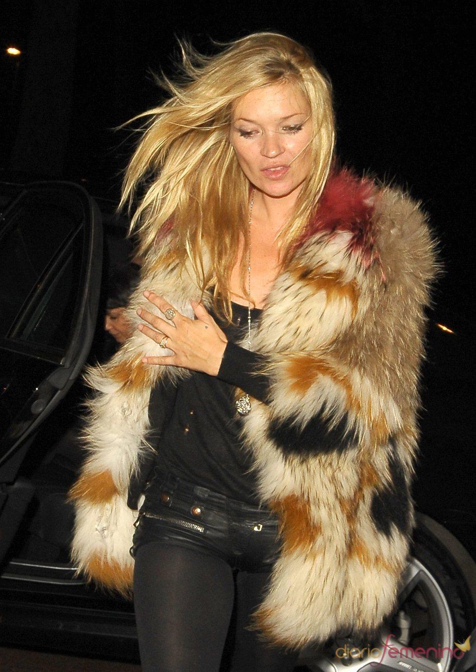 Kate Moss, muy aficionada a las pieles