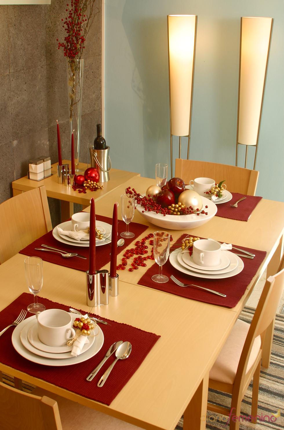 Mesa de Navidad minimalista