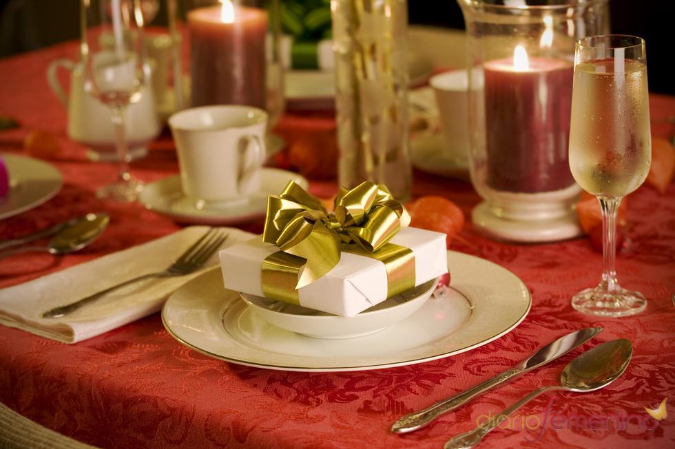 Mesa de Navidad regalo sorpresa