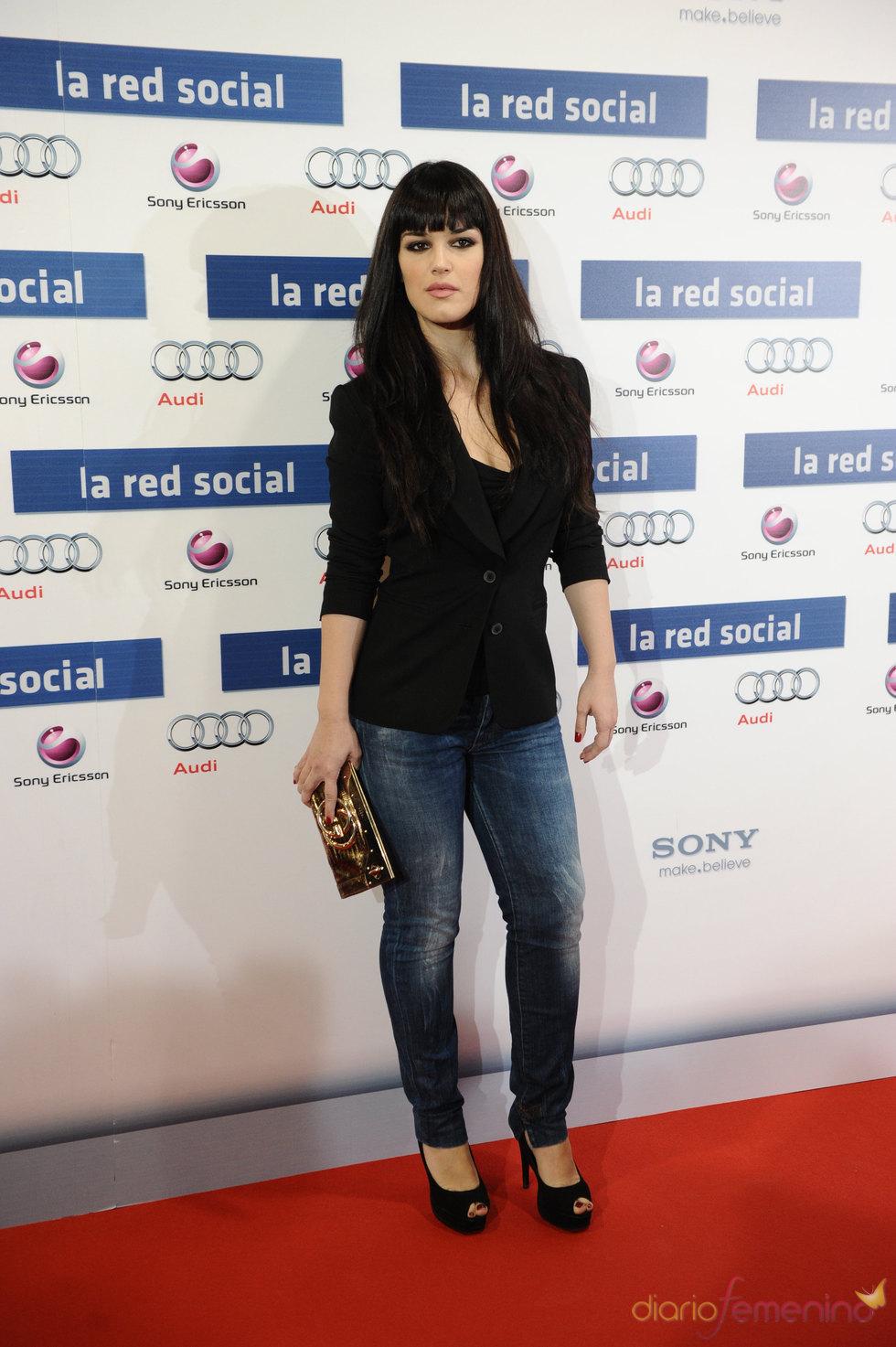 Sara Vega en la premiere de 'La red social'