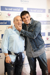 Xavier Deltell y Luis Roderas en el estreno de 'La red social'
