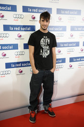 Israel Rodríguez en la premiere de 'La red social'