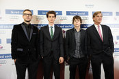 Justin Timberlake, Andrew Garfield y Jesse Eisenberg presentan 'La red social' en Madrid