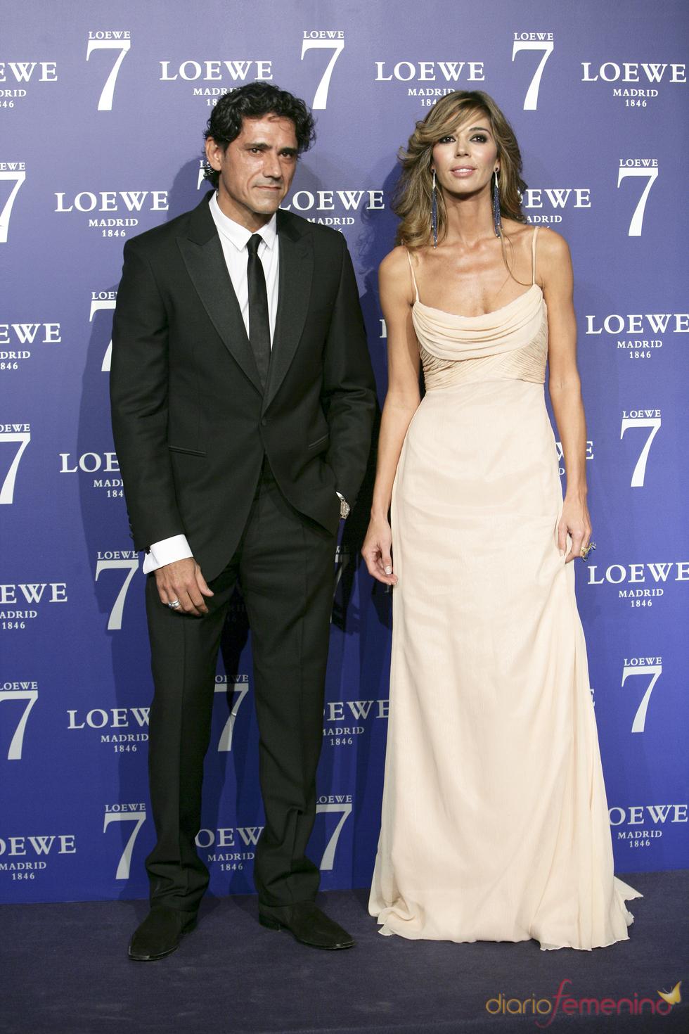 Jesus Cabanas y Eva Zaldívar en la presentación de la fragancia 7 de Loewe Madrid