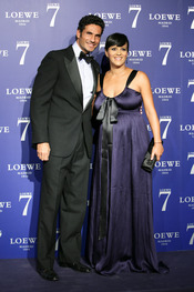 Oscar Higares y Sandra Álvarez en la presentación de la fragancia 7 de Loewe Madrid