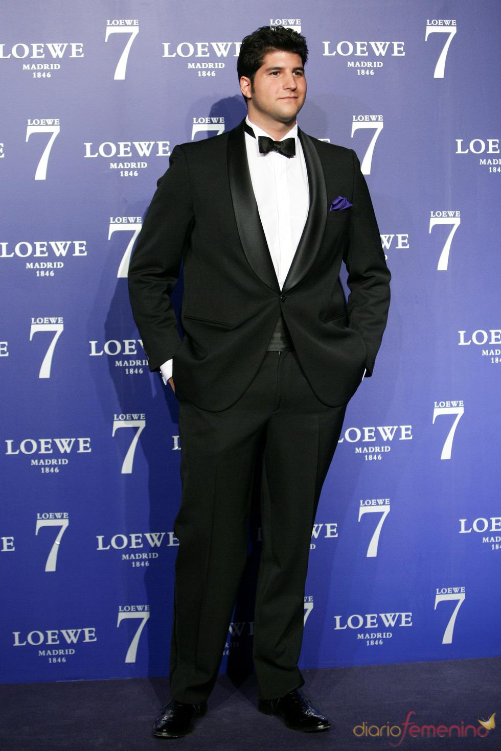 Julian Contreras Jr. en la presentación de la fragancia 7 de Loewe Madrid