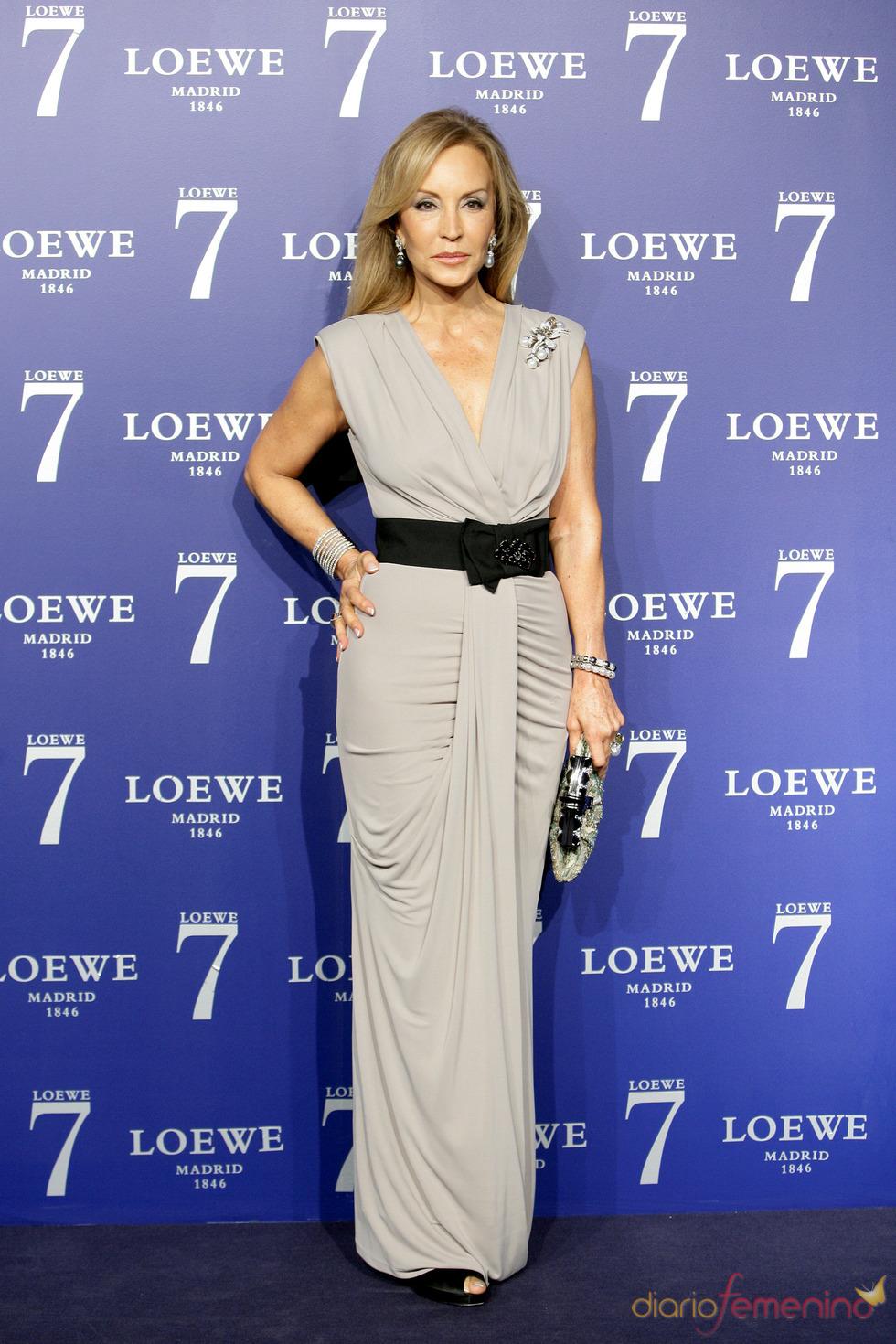Carmen Lomana en la presentación de la fragancia 7 de Loewe Madrid