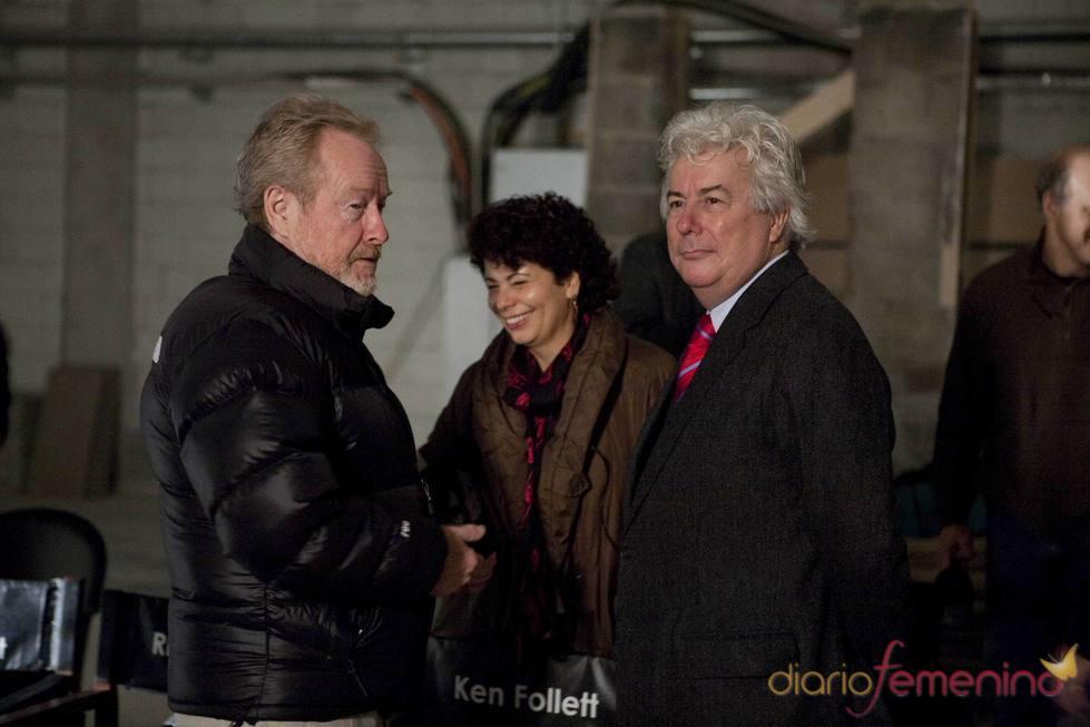 Ridley Scott, Rola Bauer y Ken Follet en Budapest