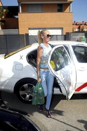 Belén Esteban, al hiper en taxi