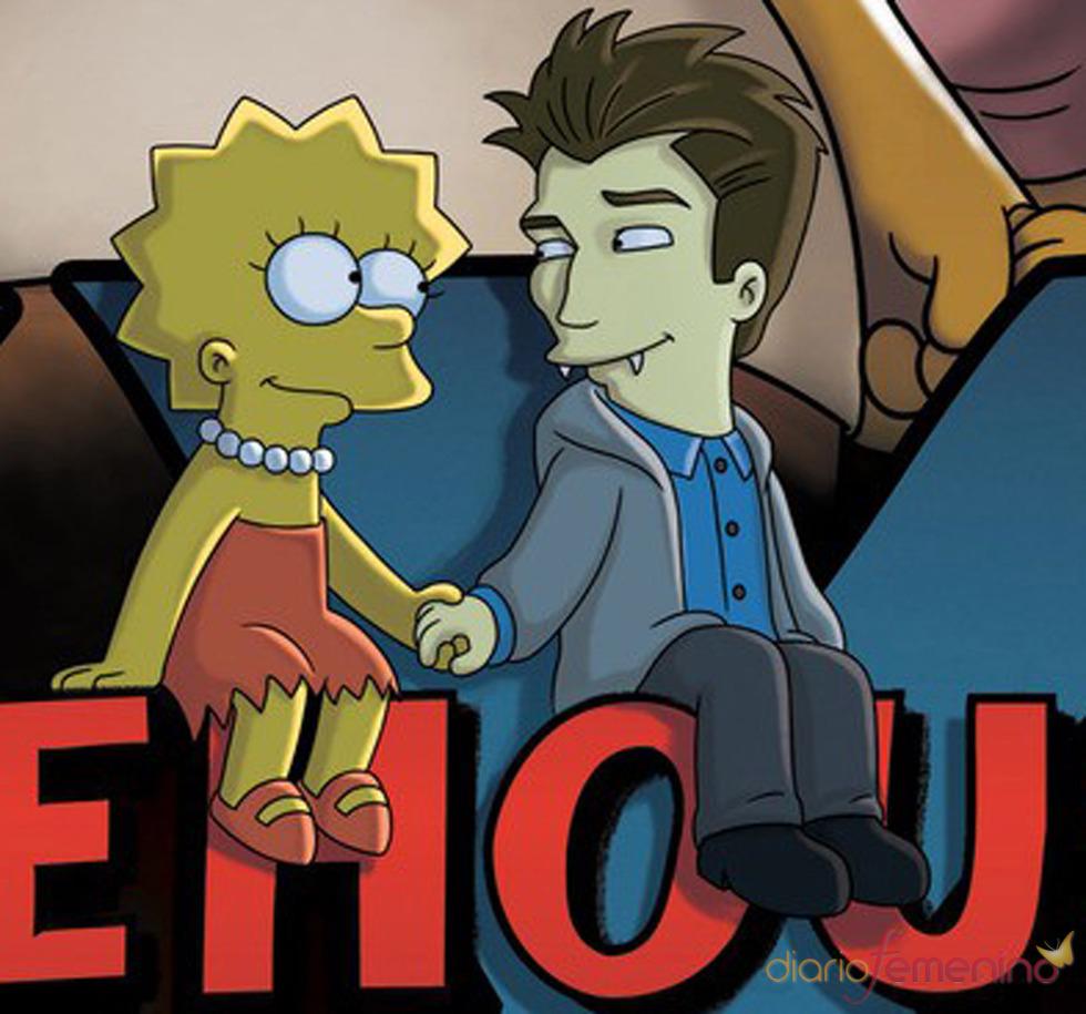 Robert Pattinson con Lisa en 'Los Simpson'