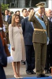 Letizia, embarazada en el Día de la Hispanidad