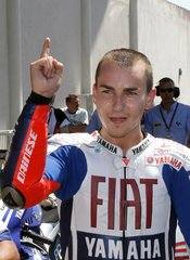 Jorge Lorenzo, ganador del premio de MotoGP