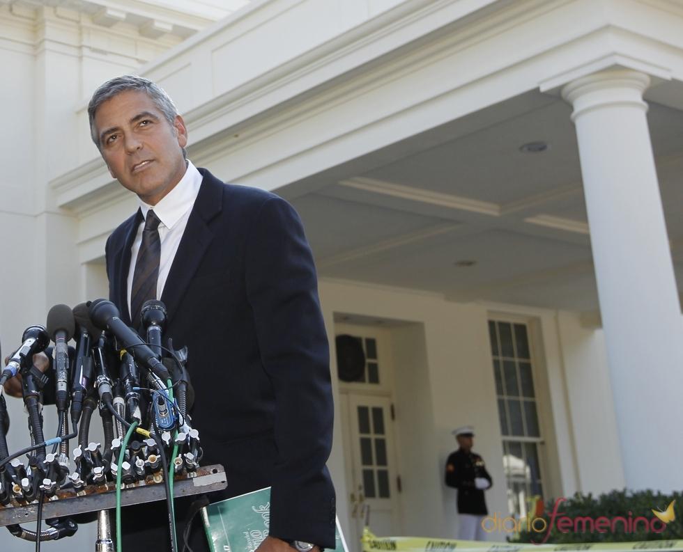 George Clooney en la Casa Blanca