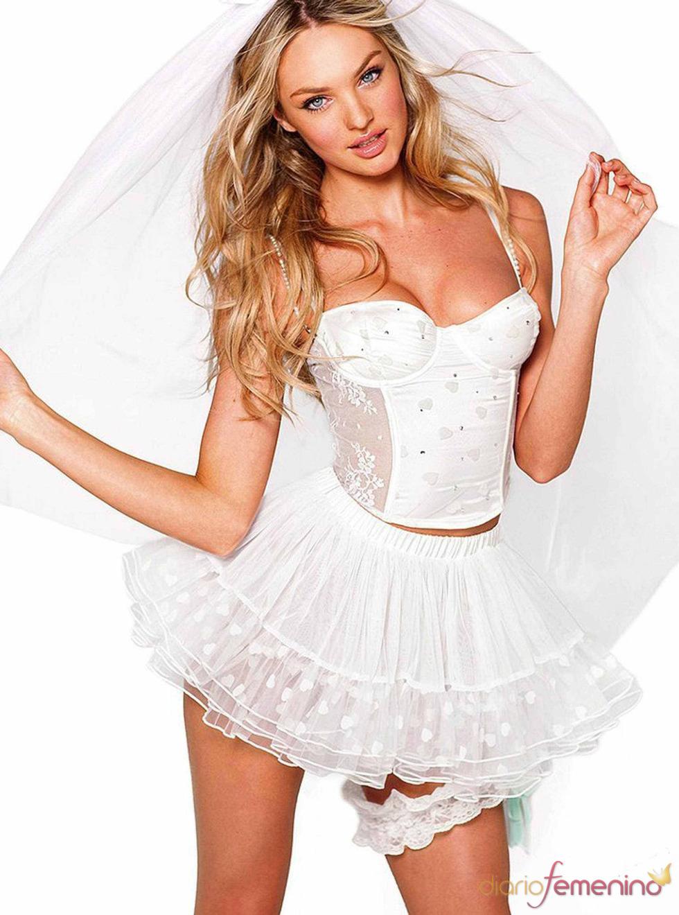 Disfraz de novia sexy, novia ertico barato - Lenceria